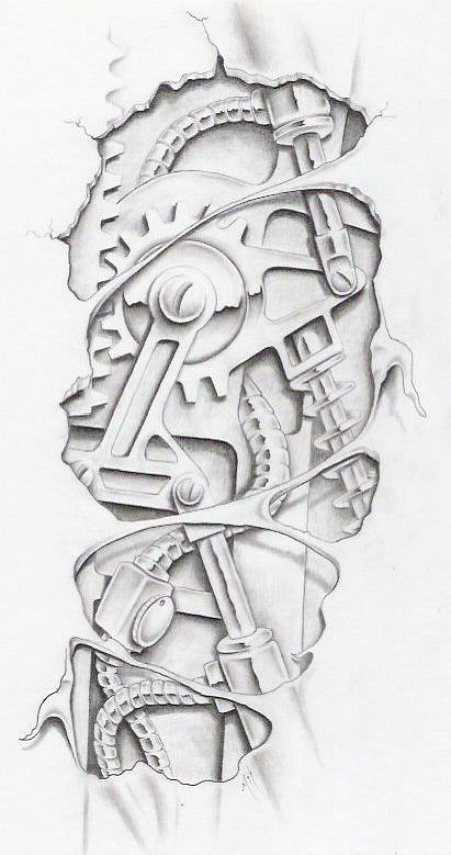 биомеханика татуировки эскизы: